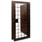 Металлическая решетчатая дверь