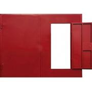 Стандартные металлические распашные ворота