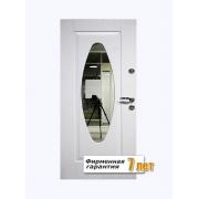 Входная металлическая дверь с зеркалом, отделанная окрашенным МДФ