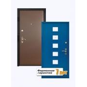 Входная металлическая дверь с отделкой крашенным МДФ и винилискожей