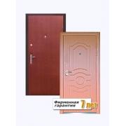 Входная металлическая дверь с отделкой винилискожей и шпонированным МДФ