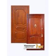 Усиленные стальные двери с отделкой шпонированным МДФ с обоих сторон