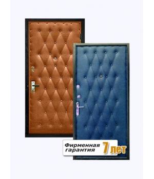 Входная металлическая дверь с отделкой дутой винилискожей с обеих сторон