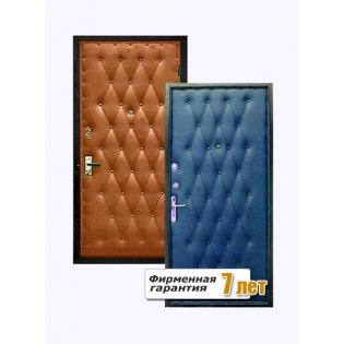 Металлическая дверь, облицованная винилискожей с обеих сторон