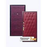 Входная металлическая дверь с отделкой дутой винилискожей с внешней стороны и гладкой с внутренней