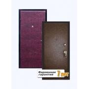 Входная металлическая дверь эконом с отделкой цветной винилискожей