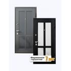 Элитная входная дверь, облицованная высококачественным искусственным камнем