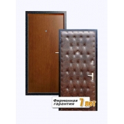 Входная металлическая дверь с отделкой ламинатом и винилискожей