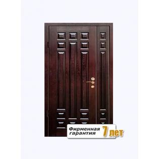 металлические входные двери с отделкой массива дуба