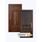 Входная металлическая дверь элит-класса с отделкой массивом дуба