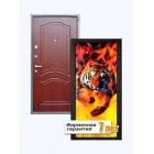 Входная металлическая дверь с рисунком, облицованная МДФ
