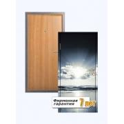 Входная металлическая дверь с фотопанелью, отделанная ламинатом и МДФ ПВХ