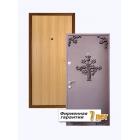 Входная металлическая дверь ламинированная с внутренней стороны и покрытая порошковым напылением с внешней