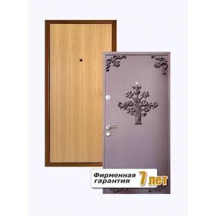 Входная металлическая дверь с элементами ковки порошок-ламинат