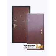Входная металлическая дверь с отделкой винилискожей и порошковым напылением с внешней стороны