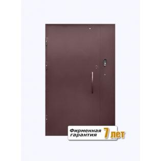 Входная подъездная дверь с окраской нитроэмалью