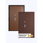 Входная металлическая дверь с отделкой винилискожей и порошковым напылением