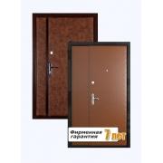 Двустворчатая металлическая дверь для тамбура с отделкой винилискожей