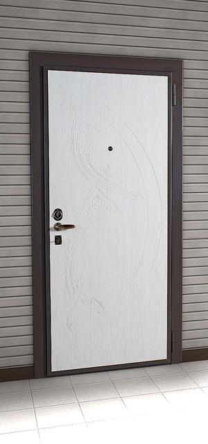 двери для коттеджа, отделанные панелью из винипласта