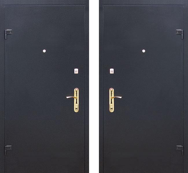 окрашенные металлические двери дешево в москве