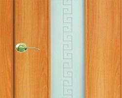 дверь с отделкой ламинатом